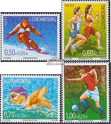 Lussemburgo 1654-1657 (completa.Problema.) 2004 Sport (Francobolli per i collezionisti) calcio