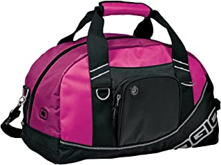 Half Dome Sports/Gym Duffel Bag (29.5 Liters) (One Size) (Hot Pink/Black)