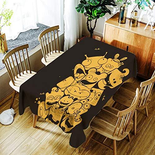 XXDD Mantel de Jirafa de Dibujos Animados patrón Animal Creativo cómodo hogar Impermeable y Cubierta de Mantel a Prueba de Polvo A3 140x160cm