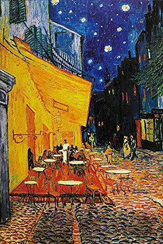 1art1 Vincent Van Gogh - Terrasse des Cafés An Der Place Du Forum In Arles Am Abend, 1888 Poster 91 x 61 cm