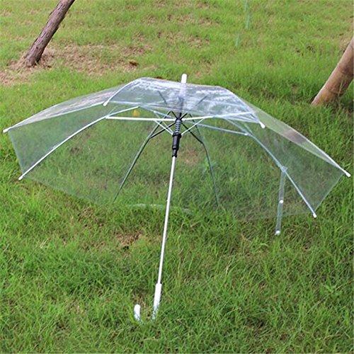 NJSDDB paraplu Transparant Helder Regen Parasol PVC Koepel voor Bruiloft Party Favor Mannen Vrouwen Mode, Helder