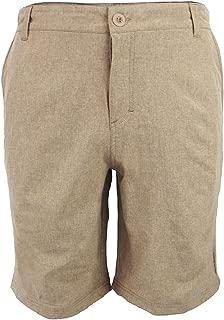 Evrimas Men's Amphibian Hybrid Shorts Chino Golf Athletic Casual Quick Dry 21'' Solid Walk Boardshort Khaki Black