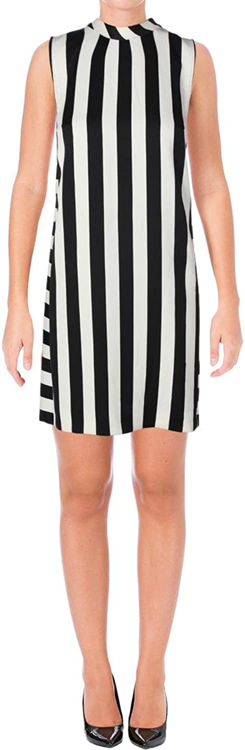 MARELLA Womens Striped Sleeveless Casual Dress