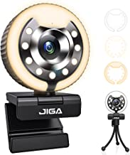 1080P Webcam with Microphone and Light Auto-Focus Play and Plug JIGA Streaming Web Camera for YouTube, Skype, Zoom, Twitc...