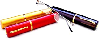 Boomer Eyeware Extra Pair of Deluxe Tube Readers, High-Quality Pocket Reading Glasses for Men & Women, 1.50, Assorted Colors, 3 Pack