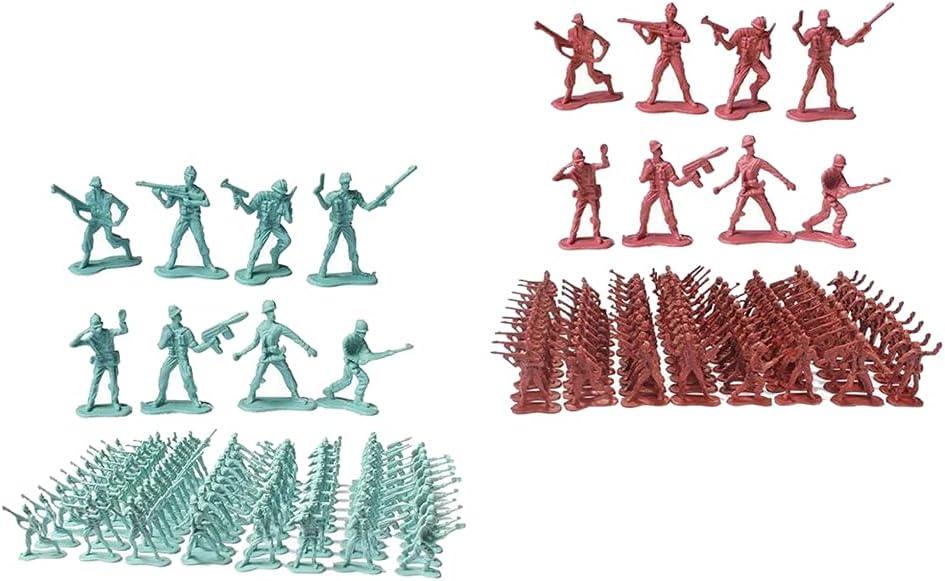 Yiju 200 Pc 4.5cm Soldiers Posture Figurine 2021 Scene Playset Industry No. 1 Sand C