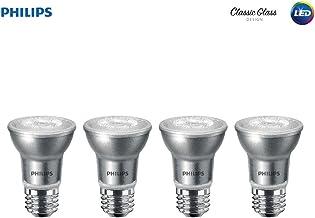 Philips LED Classic Glass Dimmable PAR16 40-Degree Spot Light Bulb: 400-Lumen, 3000-Kelvin, 5.5-Watt (50-Watt Equivalent), E26 Base, Bright White, 4-Pack