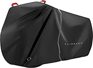 Faireach Abdeckplane Fahrrad Wasserdicht, Fahrradabdeckung Fahrradgarage 210D Premium-Stoff, Schutzhülle mit Schlosslöcher & Beutel für alle Fahrradtypen
