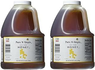 Pure N Simple 100% Pure Honey, 5 lb (80 oz) Bulk Size - 2 Pack