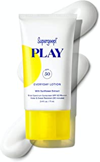 Supergoop! PLAY Everyday Lotion, 2.4 oz - SPF 50 PA++++ Reef-Safe, Broad Spectrum, Body & Face Sunscreen for Sensitive Ski...
