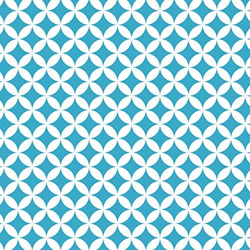 Venilia KF Basic Monica blue 45cmx1,5m adhesiva decorativa, muebles, papel pintado, lámina autoadhesiva, PVC, sin ftalatos, 1,5m, 54766, 45 cm x 1,5 m
