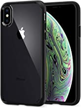 Spigen Ultra Hybrid Cover iPhone X, 5.8 inch Cover iPhone XS con Tecnologia Air Cushion e Protezione da Goccia Ibrida per Apple iPhone X (2017) / iPhone XS (2018) - Matte Black - 057CS22129
