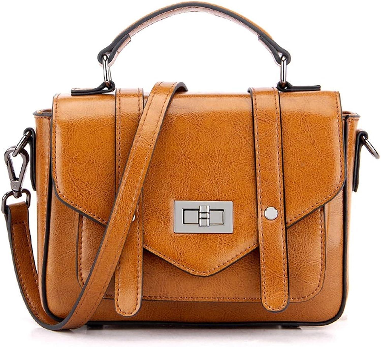 Cvthfyky Ledertasche Handtaschen für Frauen Vintage Top Griffe Umhängetasche (Farbe   Gelb) B07KGS6JKB  Stimmt