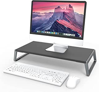 Monitor Stand Riser Computer Metal Monitor Riser and Tabletop Organizer,Computer Stand with Anti-Slip Silicone for Home Of...