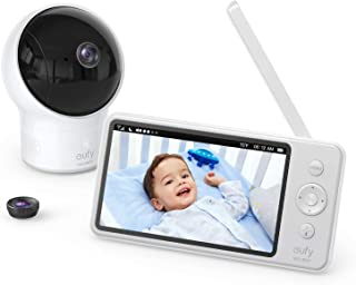 "Baby Monitor, eufy Security SpaceView Video Baby Monitor, 5"" LCD Display, 720p HD Resolution, Wide-Angle Lens Included, 46..."
