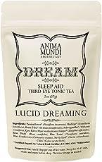 Anima Mundi Herbal Dream Tea - Lucid Dreaming Loose Leaf Tea with Ashwagandha, Skullcap & Rose Petals to Support Restful Sleep & Promote Sense of Calm - Sleep Aid Loose Leaf Tea (2oz)