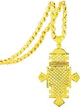 Fashion Ethiopian/Eritrean Jewelry 18K Gold Plated Ethiopian Cross Jewelry Pendant Chain Necklaces