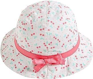 QUICKLYLY Sombreros Gorras Ni/ños Beb/é Ni/ña Fruta Estampado Bowknot Playa Gorra Princesa Sombreros De Protecci/ón Solar