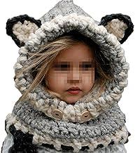 Bebé Sombrero y Bufandas Invierno, Gorros de Punto Cálidos Bebé Gorros de Animales Lindos Fox Sombrero y Bufanda Gorros Niño Niña