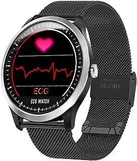 XFUNY N58 ECG Sports Watch HRV Report Blood Pressure Heart Rate Test ECG+PPG ECG Smart Watch (Black)