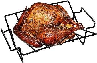 Mydracas BBQ Rib Racks for Smoking and Grilling,Turkey Roasting Rack Roast Rack Dual Purpose fit for Large Big Green Egg a...