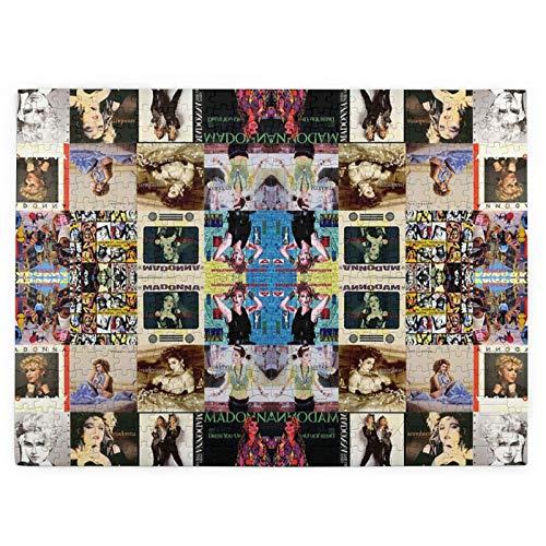 Madonna Collage Picture Puzzle, Rompecabezas de madera de 520 piezas rompecabezas juego