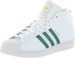 adidas Originals Mens Pro Model Leather Mid-Top Sneakers