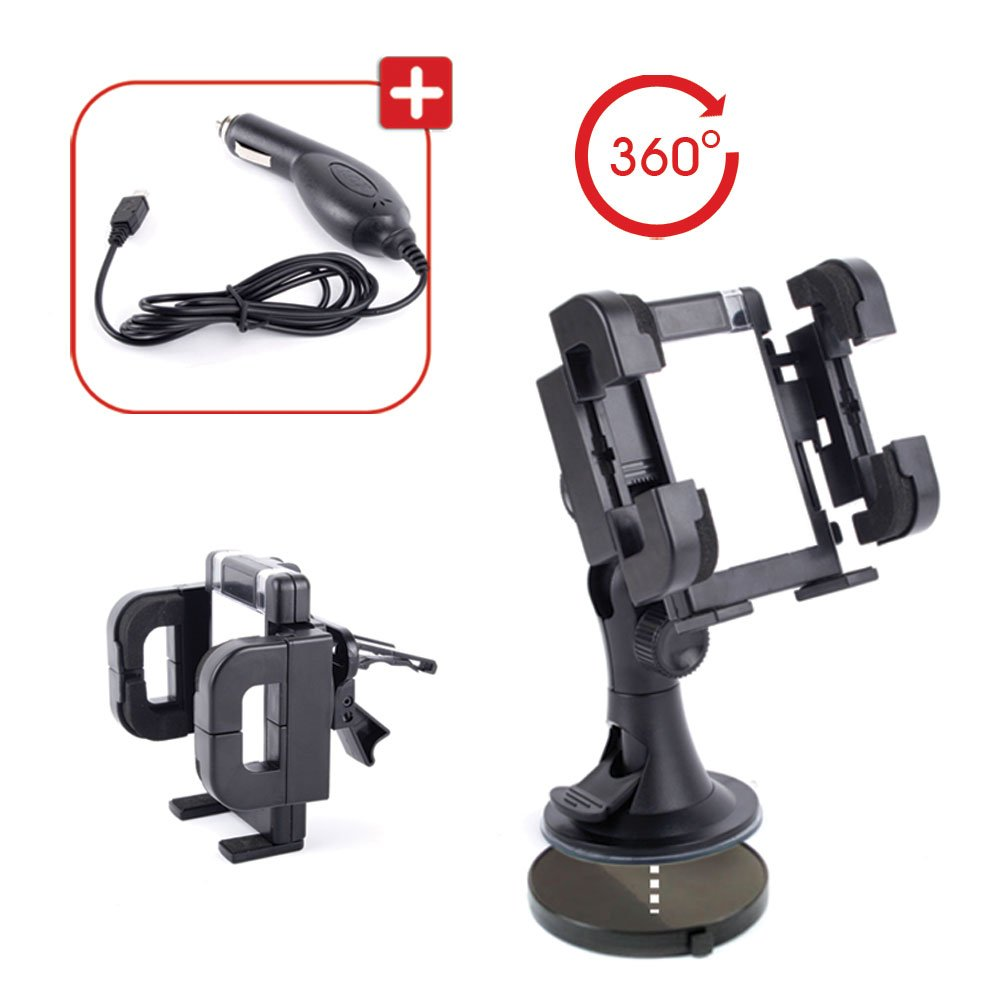 Xperia V /& Xperia J Compatible with Sony Xperia T DURAGADGET Car Window Suction Mount with 360 Degree Rotating Phone Cradle