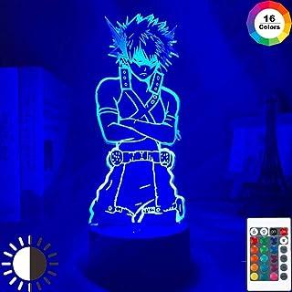 Lámpara LED 3D Lámpara de luz de noche Anime MY Hero Acade