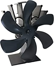 P Prettyia 6 Ventilador de Estufa de Calor Silencioso Ecológico para Chimenea de Quemador de Pellets
