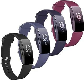 مجموعة من 4 قطع متوافقة مع أساور Fitbit Inspire Hr للنساء والرجال، متوافقة مع Fitbit Inspire/Inspirer، 2 خصلتان رياضية صغي...