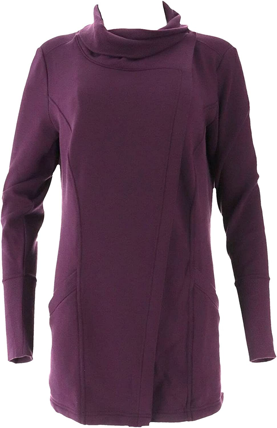 Susan Lucci Collection Max 46% OFF Cowl Neck SLV Max 67% OFF Jacket A343567 Long Plum