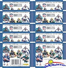 2018 Panini NFL Football Stickers Collection of 10 Factory Sealed Sticker Packs with 50 MINT Stickers! Look for Stickers of NFL Superstars & Rookies Including Tom Brady,Todd Gurley,Aaron Rodgers & More