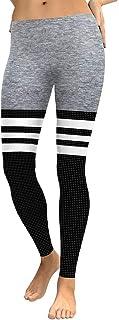 Ruiyue ファッション3dデジタル印刷パフォーマンス快適な服グレーブラックダブルスポーツフィットネスパンツレディースワイルドレギンスヨガパンツタイツスポーツフィットネス用女性用女性 (Color : Gray, Size : S)