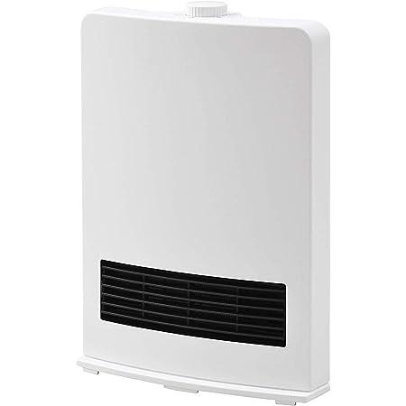 [山善] セラミックファンヒーター (セラミックヒーター) 暖房器具 1200W / 600W 2段階切替 DF-J121(W) [メーカー保証1年]