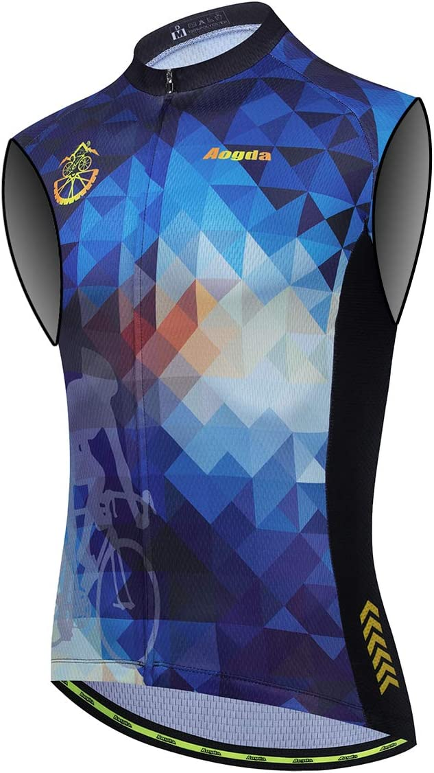 Aogda Cycling Vest All stores are sold for latest Men Bike Sleeveless Biking Jerseys Team T