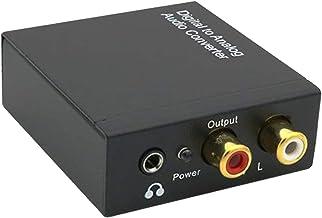 gazechimp Digital para Analógico Conversor de Áudio 192kHz SPDIF TOSLINK Digital Óptica para RCA para Estéreo L/R e 3.5mm ...