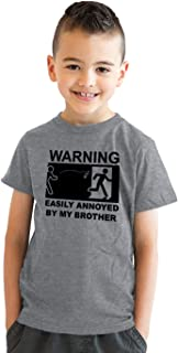 Youth Easily Annoyed by My Brother Tshirt Funny Sarcastic Bro Sibling Tee