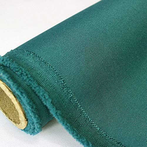 Waterproof Canvas Fabric Outdoor 600 Denier Indoor/Outdoor Fabric by The Yard PU Backing W/R, UV, 2times Good PU Color,Teal