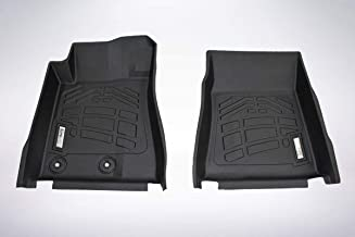 Wade 2-Piece Sure-Fit Floor Mat Liners for 1st Row 2015-2019 Ford Mustang/Mustang Shelby GT350/GT350R (Black)