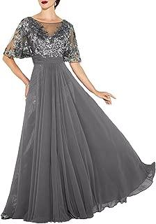 Womens Elegant Lace Mother The Bride Dress Beaded Bridesmaid Dress