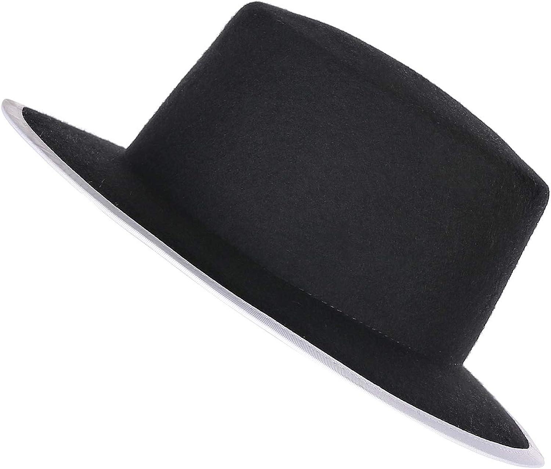 Prefe Women's 100% Wool Felt Cloche Fedora Hat Ladies Church Derby Party Fashion Winter