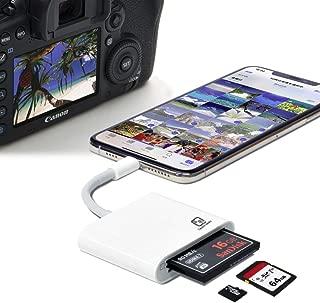 カメラリーダー 写楽 iPhone iPad Lightning端子用 UDMA7 RAW 3in1 マルチリーダー コンパクトフラッシュ SD microSD対応