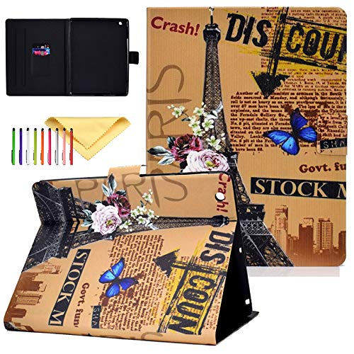 Uliking Case Fit iPad 4th/3rd/2nd Generation, PU Leather Skinshell Protective Smart Cover with Stand Feature and Auto Sleep/Wake, Tower