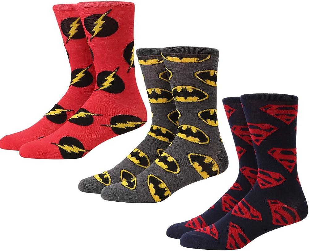 DC Comics Logos Men's 3-pack Crew Socks