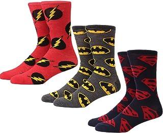 طقم جوارب رجالي من 3 قطع بشعار DC Comics