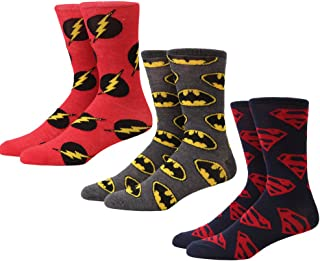 DC Comics Logos Men's 3-pack Crew Socks
