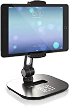 Tablet Stands and Holders Adjustable: Tablet Cell Phone Holder 360 Degree Swivel Angle Rotation for 4 to 11 inches Tab Phone iPad Samsung Galaxy Perfect POS Kitchen Bedside Office Table Reception