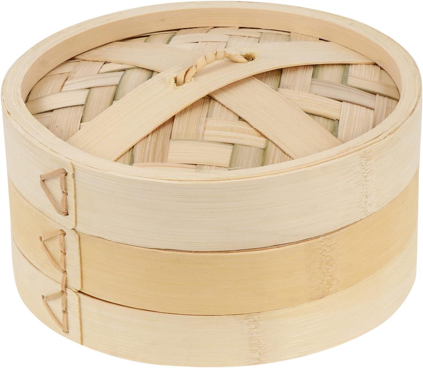 HEMOTON Bamboo Steamer Basket with Max 42% OFF Dumpling Buns Lid Kit Spring new work