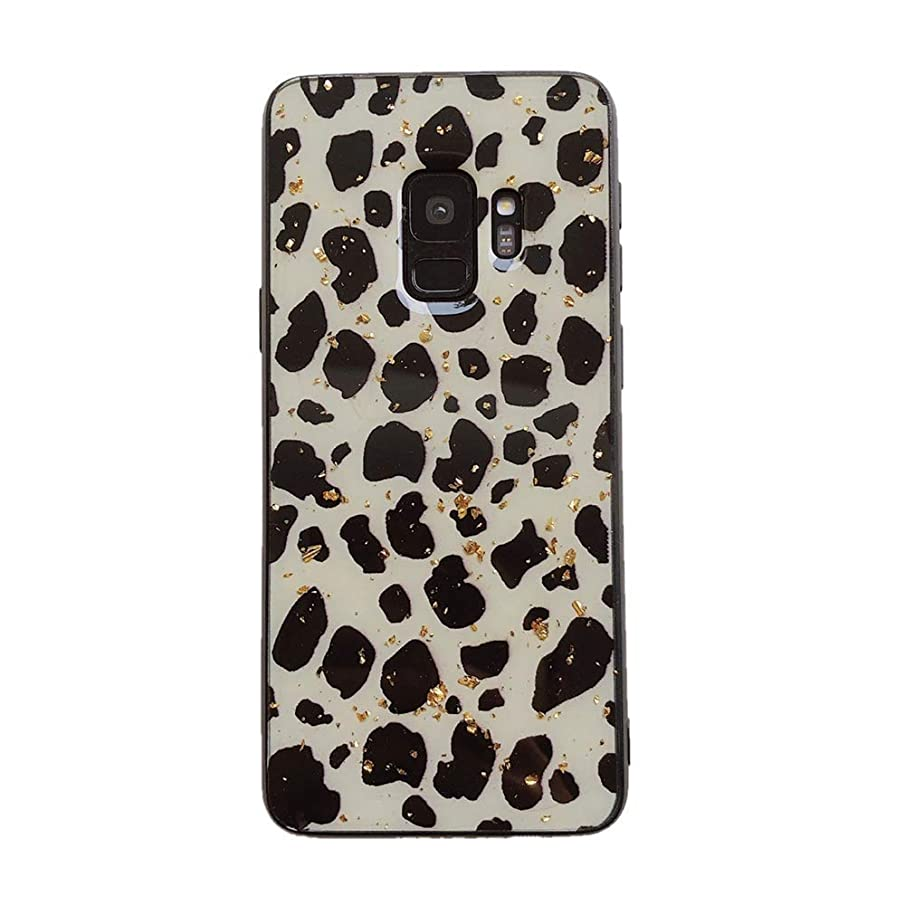 for Samsung Galaxy S9 Plus Leopard Print Back Case Animal Cheetah Cat Print Soft TPU Protective Case with Screen Pretector Glitter Slim Silicone Shockproof Phone Cover for Samsung Galaxy S9 Plus Pink